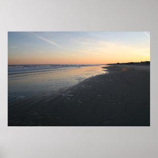 zonsondergang over de Atlantische Oceaan Poster