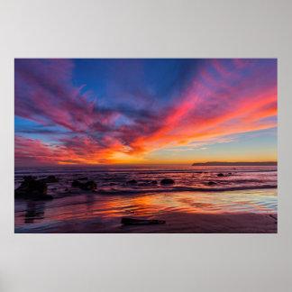 Zonsondergang over de Stille Oceaan van Coronado 2 Poster