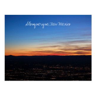 Zonsondergang over het Briefkaart van Albuquerque