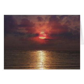Zonsondergang over het OceaanWenskaart Briefkaarten 0