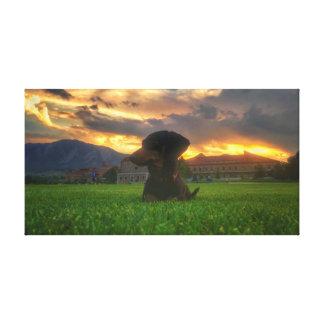 Zonsondergang over Kei Colorado Canvas Print