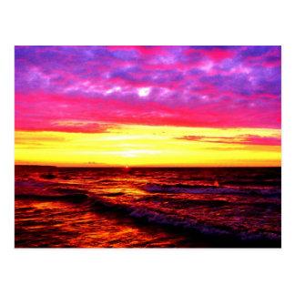 Zonsondergang over Meer Erie Briefkaart