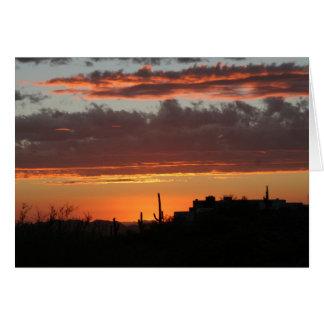 Zonsondergang over Scottsdale Wenskaart