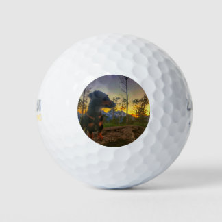 Zonsondergang over Tetons Golfballen