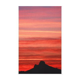 Zonsondergang over Tucson Canvas Afdruk