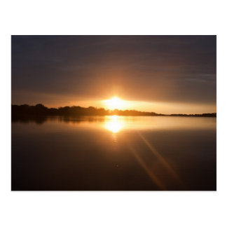 Zonsondergang over Zambezi Rivier - Briefkaart