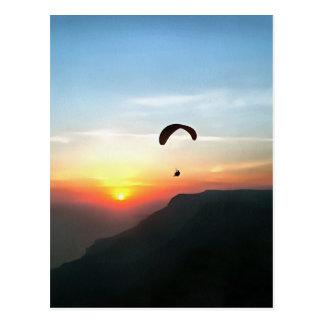 Zonsondergang Paraglide Briefkaart