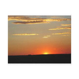 Zonsondergang Stretched Canvas Afdrukken