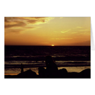 Zonsondergang Venetië CA. Briefkaarten 0