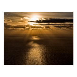Zonsopgang boven de Atlantische Oceaan Briefkaart