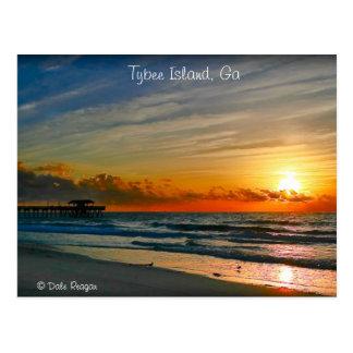 Zonsopgang - Eiland Tybee Briefkaart