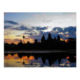 Zonsopgang in Angkor Wat, Kambodja - Briefkaart