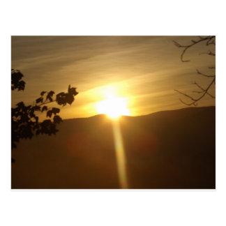 Zonsopgang in Konijnenveld Vermont Briefkaart