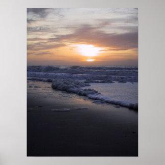 Zonsopgang op de Atlantische Oceaan Poster