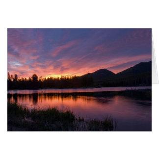 Zonsopgang over Sprague Meer, Colorado Wenskaart