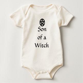 Zoon van de Heidense Pentacle van de Heks Kleren Baby Shirt