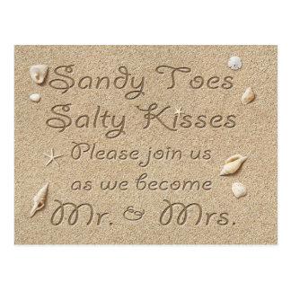 Zoute Kussen van de Tenen van het strand bewaren Briefkaart