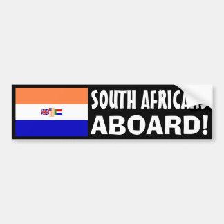 Zuid-Afrikanen aan boord! Bumpersticker