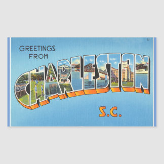 Zuid- Carolina, Blad van 4 stickers van Charleston