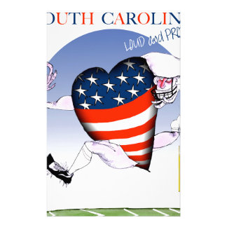 Zuid- Carolina luide en trotse, tony fernandes Briefpapier