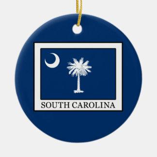 Zuid- Carolina Rond Keramisch Ornament