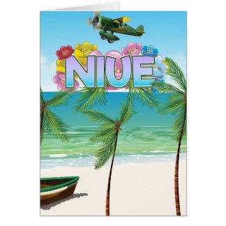 Zuid-Pacifisch de reisposter van Niue Briefkaarten 0
