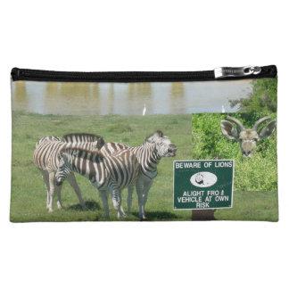 Zuidafrikaanse Zebras en de Kosmetische Zak van Make-up Tasje