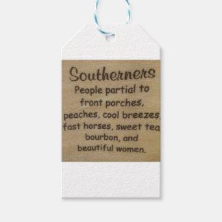 Zuidelijk jargon cadeaulabel