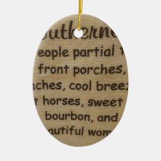 Zuidelijk jargon keramisch ovaal ornament