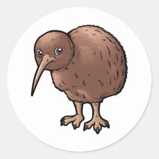 Zuidelijke Bruine Kiwi Ronde Sticker