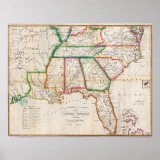 Zuidelijke Sectie Verenigde Staten Poster