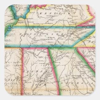 Zuidelijke Sectie Verenigde Staten Vierkant Stickers