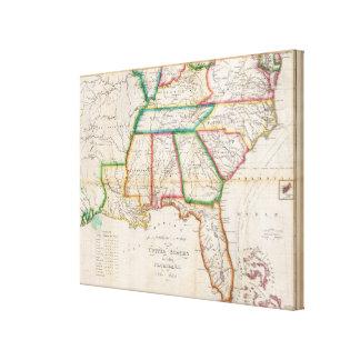 Zuidelijke Sectie Verenigde Staten Stretched Canvas Afdruk