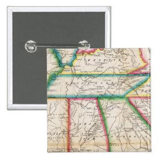 Zuidelijke Sectie Verenigde Staten Vierkante Button 5,1 Cm