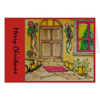 Zuidwestelijke de deuringang i van Kerstmis Kaart