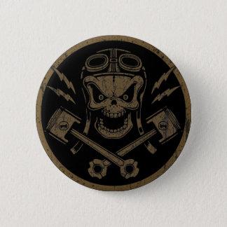 Zuiger Pistoff II - zilver/goud Ronde Button 5,7 Cm