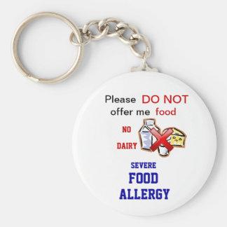 Zuivel Allergie Allert Keychain Sleutelhanger