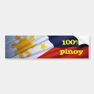 zuivere pinoy producten 100% bumpersticker