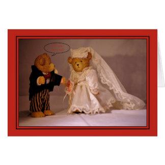 Zult u me huwen Aanzoek Het huwelijk draagt Kaart