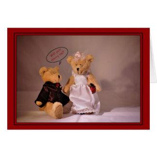 Zult u me huwen Aanzoek Het huwelijk draagt Wenskaart