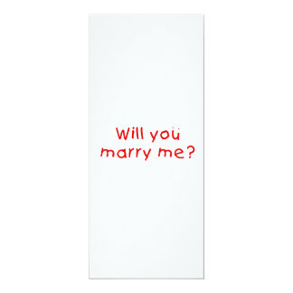 Zult u me huwen? De Sticker van de Zegel van de 10,2x23,5 Uitnodiging Kaart