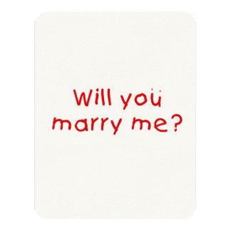 Zult u me huwen? De Sticker van de Zegel van de 10,8x13,9 Uitnodiging Kaart