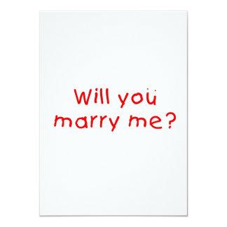 Zult u me huwen? De Sticker van de Zegel van de 11,4x15,9 Uitnodiging Kaart