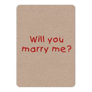 Zult u me huwen? De Sticker van de Zegel van de 12,7x17,8 Uitnodiging Kaart