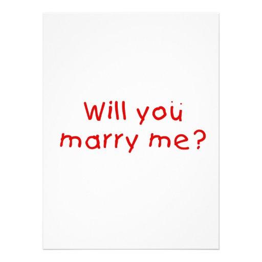 Zult u me huwen? De Sticker van de Zegel van de Custom Uitnodigingen
