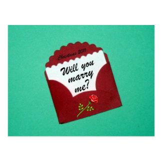 Zult u me huwen? Kerstmis 2011 Wenskaarten