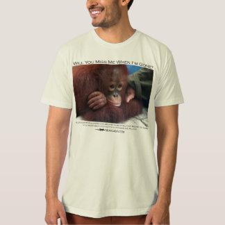 Zult u me missen?  De Orangoetan van het baby T Shirt