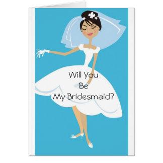 Zult u Mijn Bruids Toebehoren van het Bruidsmeisje Briefkaarten 0
