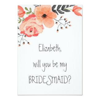 """""""Zult u mijn bruidsmeisje"""" Bloemen bloost zijn Kaart"""