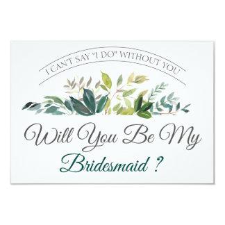 Zult u Mijn Bruidsmeisje | Groen zijn Kaart